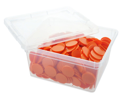 Box of blank tokens - ø 1.14'' - Orange