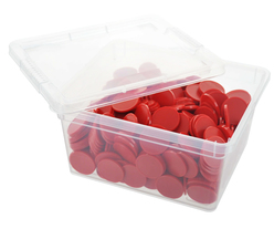 Box of blank tokens - ø 1.14'' - Red