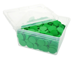 Box of blank tokens - ø 1.14'' - Green