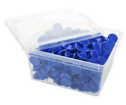 Box of bingo tokens - ø 0.98'' - Blue