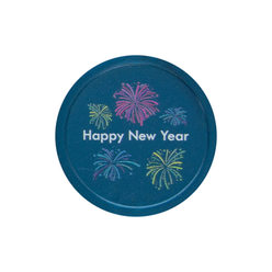 Happy New Year design - Printed Tokens ø 1.50''