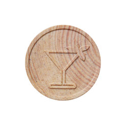 Wooden Token -  Embossed - Standard Designs