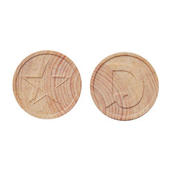Wooden Token - Embossed - Personalized & Standard Design