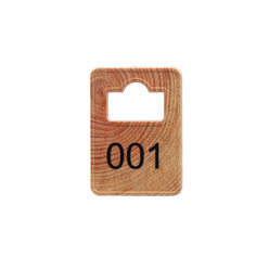 Wooden Coatroom Tokens - Numbering only