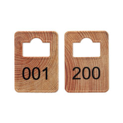 Coatroom Tokens In Stock - Wood - Square Opening - 001-200