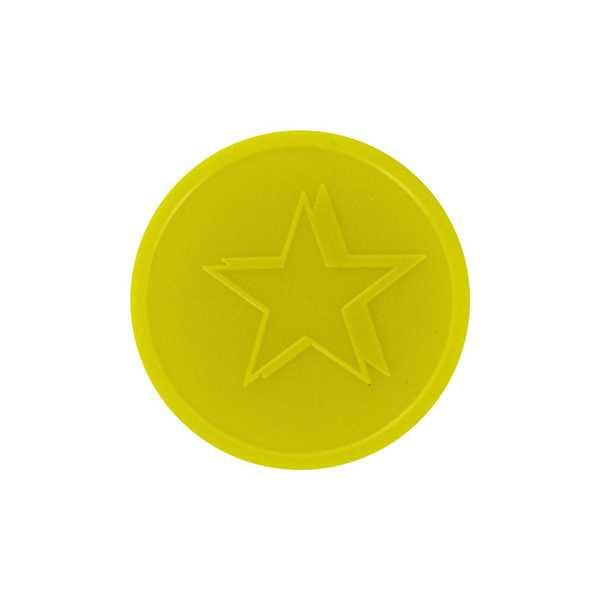 Embossed In-Stock Tokens ø 1.14'' - Yellow - Star
