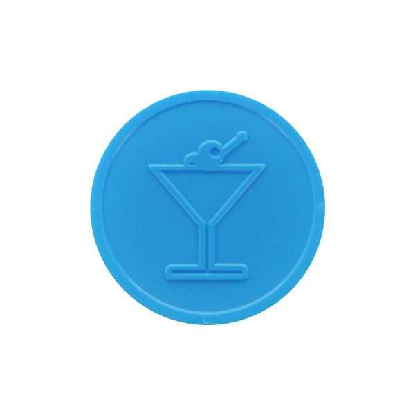 Embossed In-Stock Tokens ø 1.14'' - Light blue - Cocktail glass