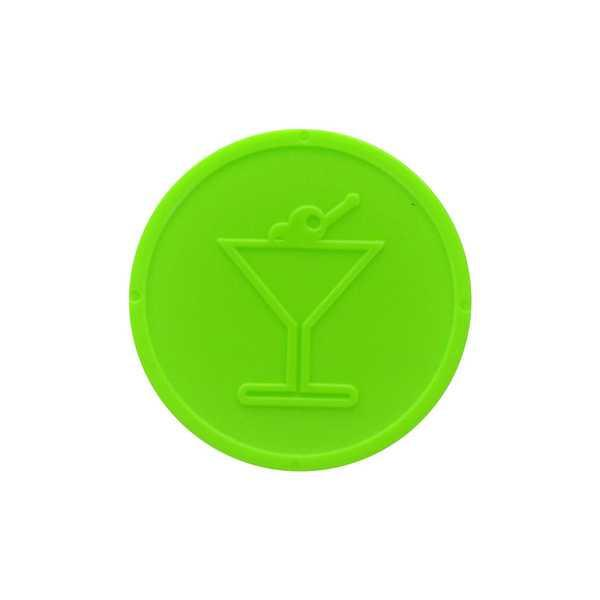 Embossed In-Stock Tokens ø 1.14'' - Neon lime - Cocktail glass