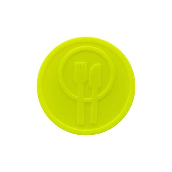 Embossed In-Stock Tokens ø 1.14'' - Neon yellow - Meal