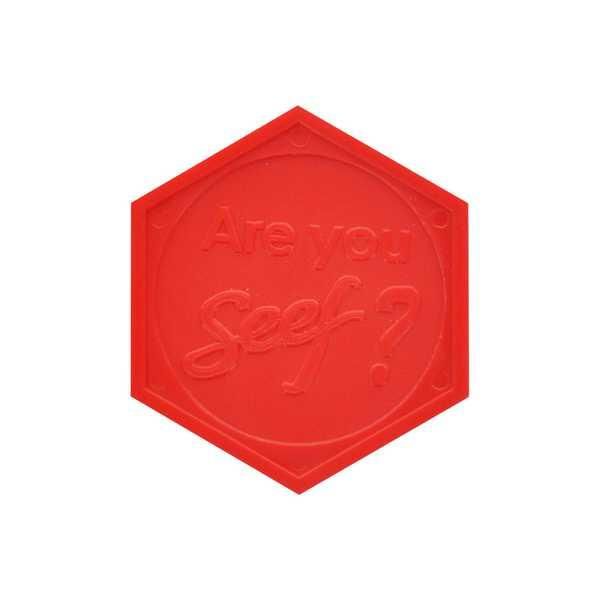 Embossed Token : Hexagon - Personalized