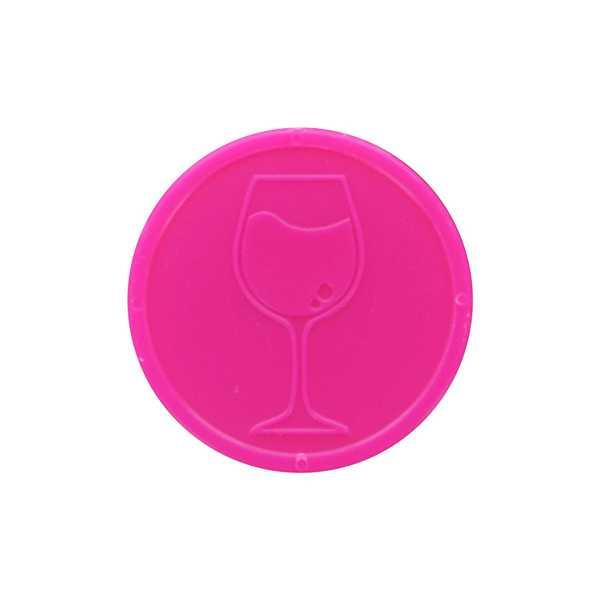 Embossed In-Stock Tokens ø 1.14'' - Pink - Wine glass