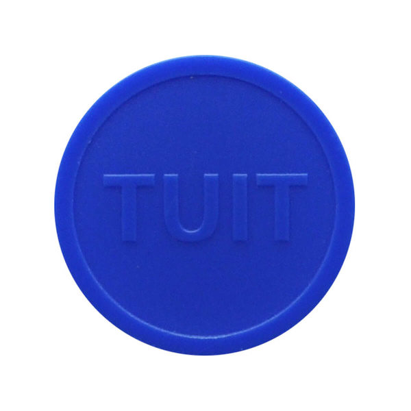 Embossed In-Stock Tokens ø 1.50'' - Dark blue - TUIT